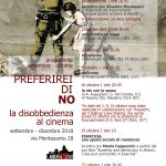 PREFERIREI DI NO. La disobbedienza al cinema